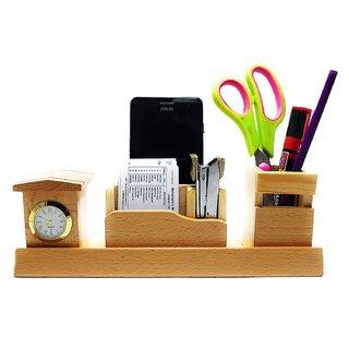 69ef021edfd5 Buy CrownLit Wooden Desk Organizer