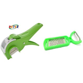 Rotek Super Combo of Vegetable Cutter and 2 in 1 Grater and Peeler