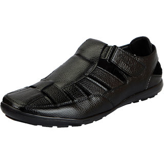 Bata Mens Black Sandals