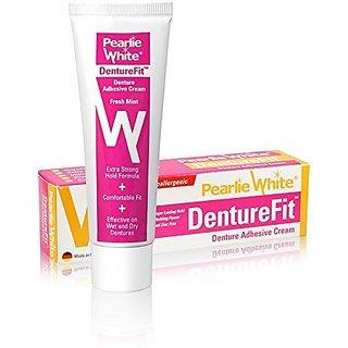 Pearlie White DentureFit Denture Adhesive Cream