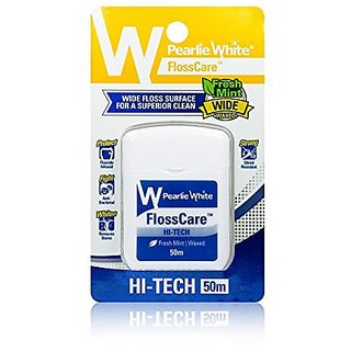 Pearlie White Hi-Tech Floss Mint Waxed (50 meters)