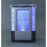 Colour Changing LCD Clock And Pen Stand With Temprature