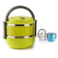 Lunchbox With Stainless Steel And Air Tight With 1400 Ml Capacity