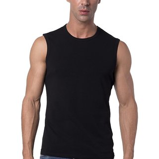 The Blazze Mens Slim Fit Crew Neck Sleeveless T-shirt