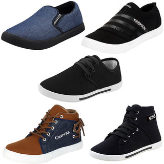 Armado Men's-Multicolor Combo Pack of 5 Casual Shoes