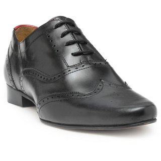 HATS OFF ACCESSORIES Genuine Leather Black Oxford Brogues Shoes For Mens (HOA-AW1706)