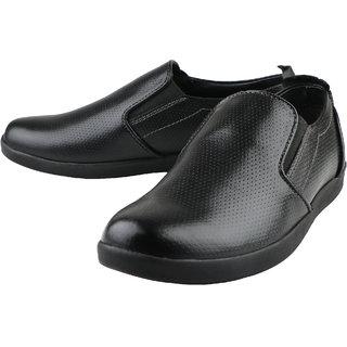 af108ccef5a Buy Kanprom Black Formal Slip On Genuine Leather Shoes For Men ...