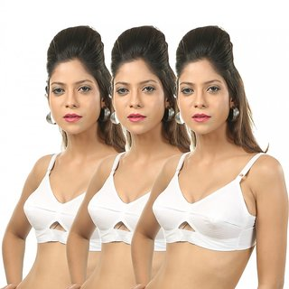 Body Liv Center Fit B Cup Cotton Bra Pack of 3