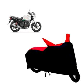 Auto MAX Premium BLACK+RED Matty Bike Body Cover For Hero Achiever