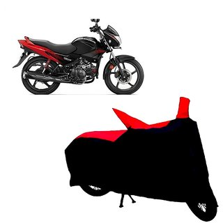 Auto MAX Premium BLACK+RED Matty Bike Body Cover For Hero Glamour
