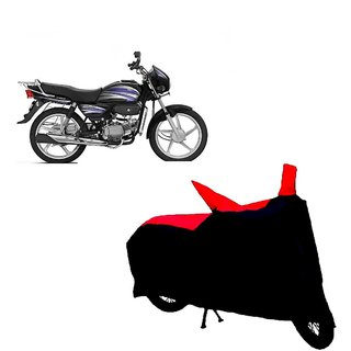 Auto MAX Premium BLACK+RED Matty Bike Body Cover For Hero Splendor Pro