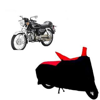 Auto MAX Premium BLACK+RED Matty Bike Body Cover For Hero Splendor Pro Classic