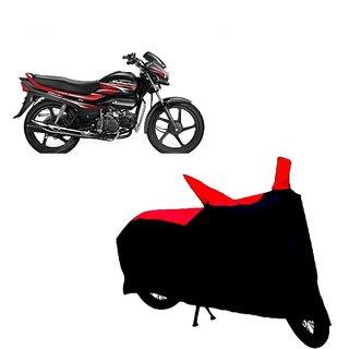 Auto MAX Premium BLACK+RED Matty Bike Body Cover For Hero Super Splendor