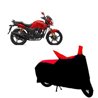Auto MAX Premium BLACK+RED Matty Bike Body Cover For Hero Hunk