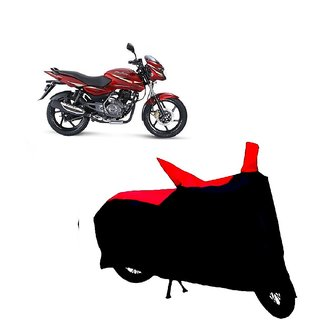 Auto MAX Premium BLACK+RED Matty Bike Body Cover For Bajaj Pulsar 150 DTS-i