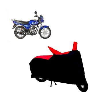 Auto MAX Premium BLACK+RED Matty Bike Body Cover For Bajaj CT 100