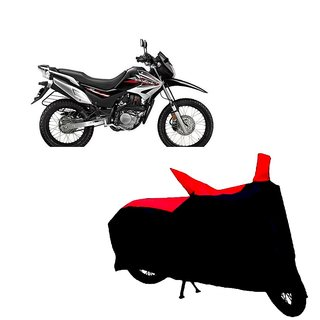 Auto MAX Premium BLACK+RED Matty Bike Body Cover For Hero Impulse