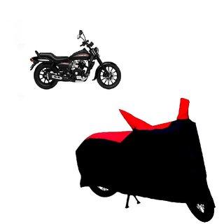 Auto MAX Premium BLACK+RED Matty Bike Body Cover For Bajaj Avenger 220 Street