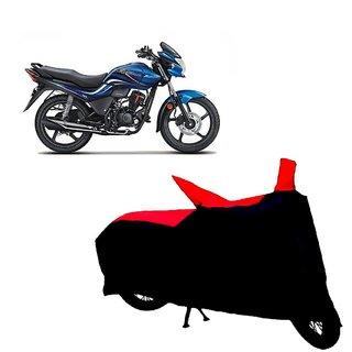 Auto MAX Premium BLACK+RED Matty Bike Body Cover For Hero Passion Xpro