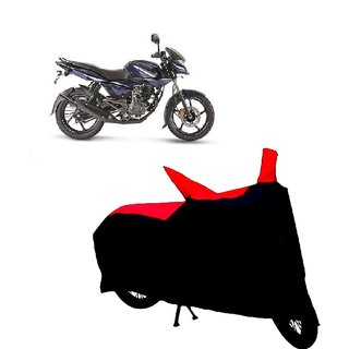 Auto MAX Premium BLACK+RED Matty Bike Body Cover For Bajaj Pulsar 135 LS DTS-i