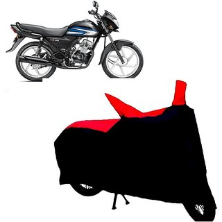 Auto MAX Premium BLACK+RED Matty Bike Body Cover For Honda CD 110 Dream