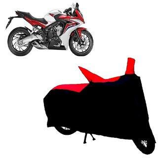 Auto MAX Premium BLACK+RED Matty Bike Body Cover For Honda CBR 650F