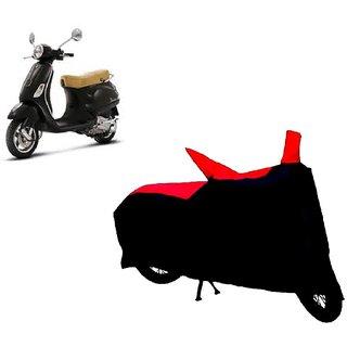 Auto MAX Premium BLACK+RED Matty Bike Body Cover For Vespa LX 125