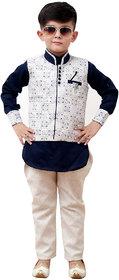 Benjoy Kids Kurta Pyjama And Waistcoat Set For Boys (3-4 Years)