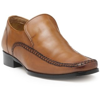 HATS OFF ACCESSORIES Genuine Leather Classic Semi-Formal Slip On With Square Toe Shoes For Mens (HOA-AW1725)