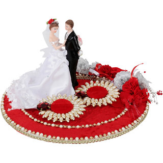 Red Classy Wedding/Engagement Ring Platter /Tray