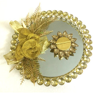 Golden Wedding /Engagement Ring Platter With Single Ring Holder