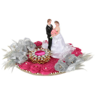 Wedding Engagement Ring Platter /Holder With Single Ring Holder