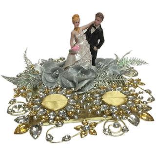 Gold  Silver Wedding / Engagement Ring Platter