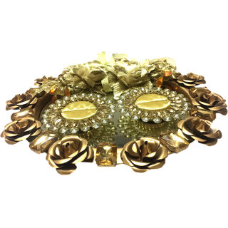 Rose Gold Wedding Ring Platter For Engagement With 2 Ring Holders