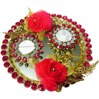 Buy Hot Bright Pink Wedding Engagement Ring Platter Double Ring Holder Online Get 62 Off