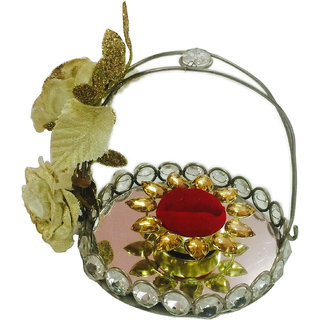 Small Basket Wedding /Engagement Ring Platter/Holder For Single Ring
