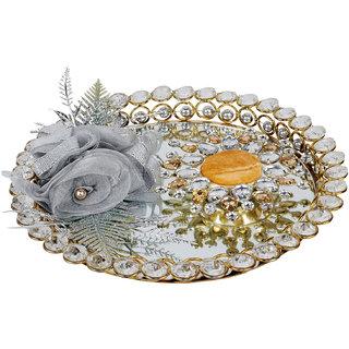 Golden & Silver Wedding/Engagement Ring Platter /Holder