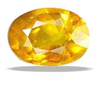 Dinesh Enterprises,8.25 ratti Yellow Sapphire Ceylon Quality Pukhraj Original Gemstone Lab Sertified