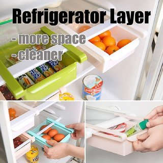 Manoj Sunlight Multipurpose Storage Rack Tray Boxes / Storage Rack Tray Boxes for Fridge(Refrigertor) / Multipurpose Refrigerator Organizer Space Saver Pack of 4
