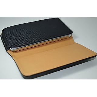 huge discount 90583 a045e New Leather Belt Pouch Magnetic Flip Cover For GIONEE E7 MINI BLACK