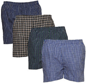 AKAAS Men's Cotton Boxer (Pack of 4)