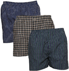 AKAAS Men's Cotton Boxer (Pack of 3)