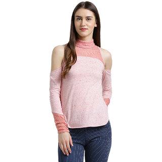 8c96d4b791fb8 Buy Texco Women Pink Solid Cold shoulder Top Online - Get 65% Off