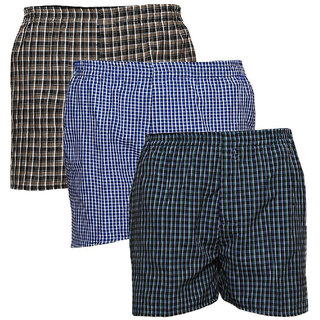 AKAAS Mens Cotton Boxer (Pack of 3)