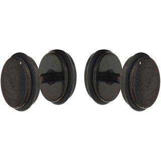 Black Mens Studs Stainless Steel Stud Earring For Mens