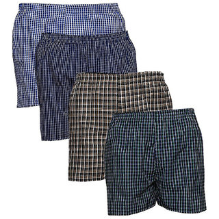 AKAAS Mens Cotton Boxer (Pack of 4)