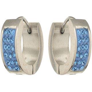 Silver Plated Stone Mens Bali Party Wear Studs Earrings