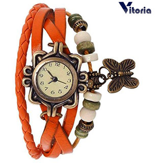 Vitoria --Leather Bracelet Watch for Girls - Multilayer Design --Vintage Classic Watch