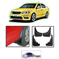 Uneestore-Skoda Octavia- Mud Flaps O.E Type Set Of 4 Pcs With Free Car Shaped Led Key Chain