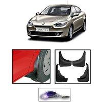 Uneestore- Rennault Fluence-Mud Flaps O.E Type Set Of 4 Pcs With Free Car Shaped Led Key Chain